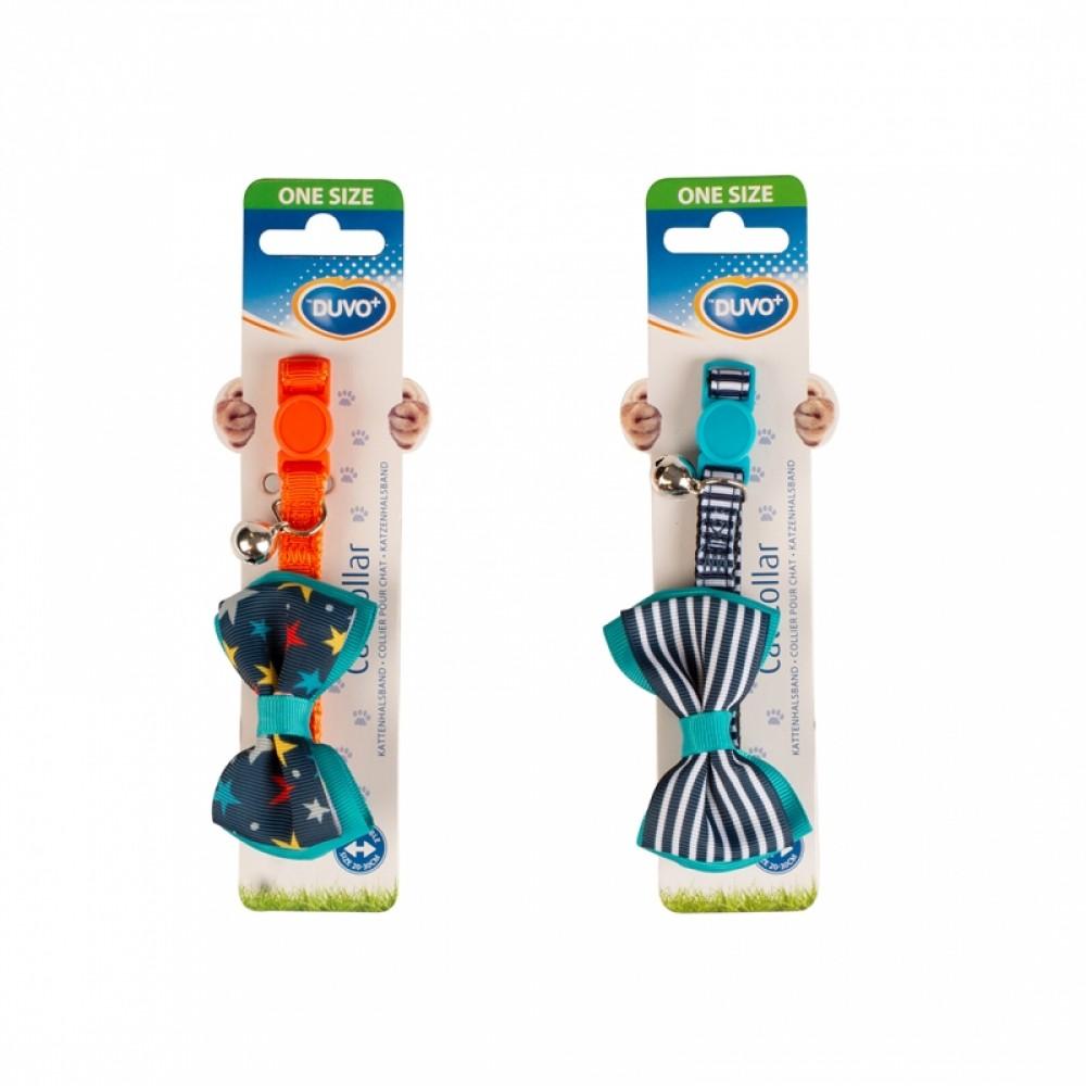 DUVO+ Ошейник для кошек нейлон с бантом 20-30 см/10 мм