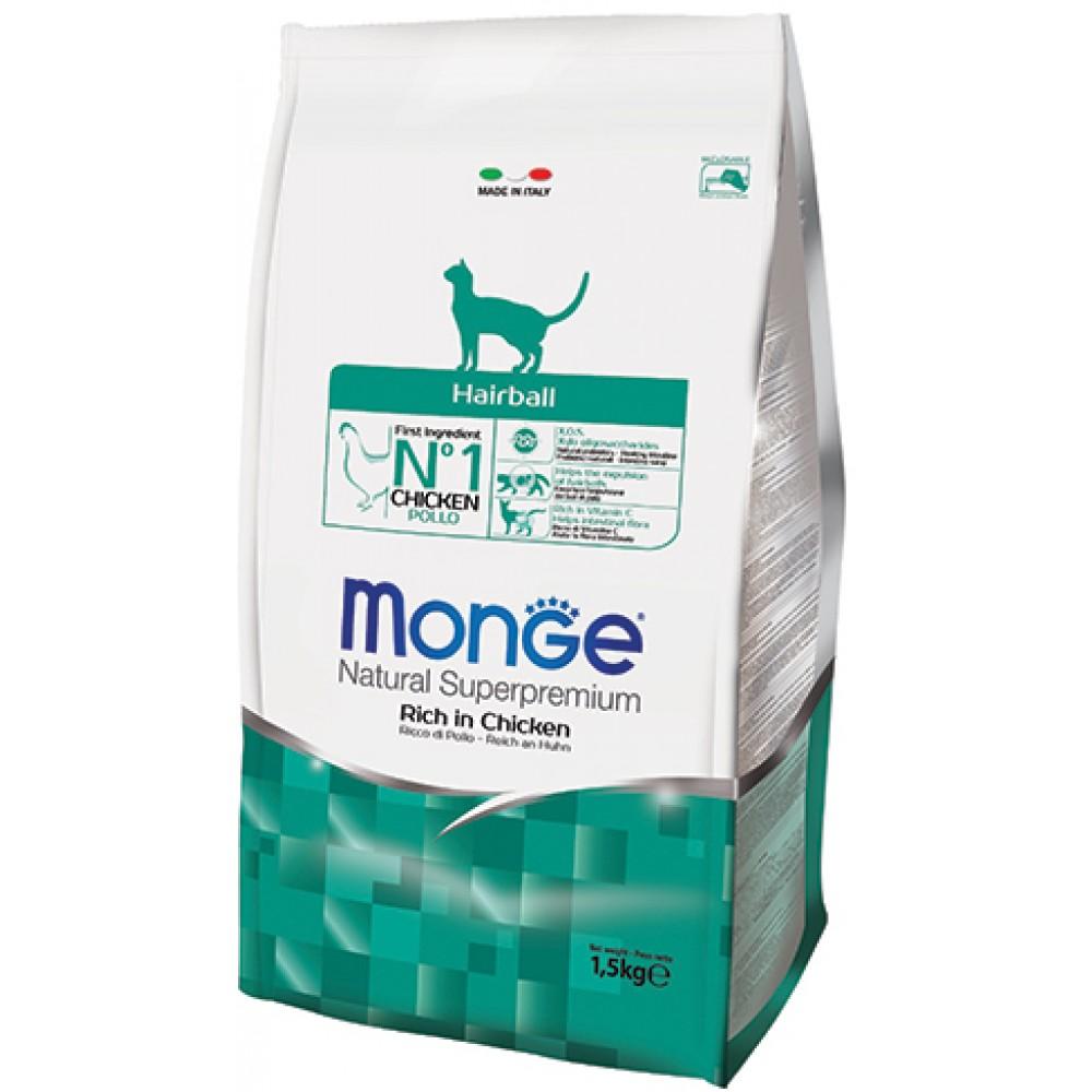 Monge CAT HAIRBALL Корм для кошек для вывода шерсти