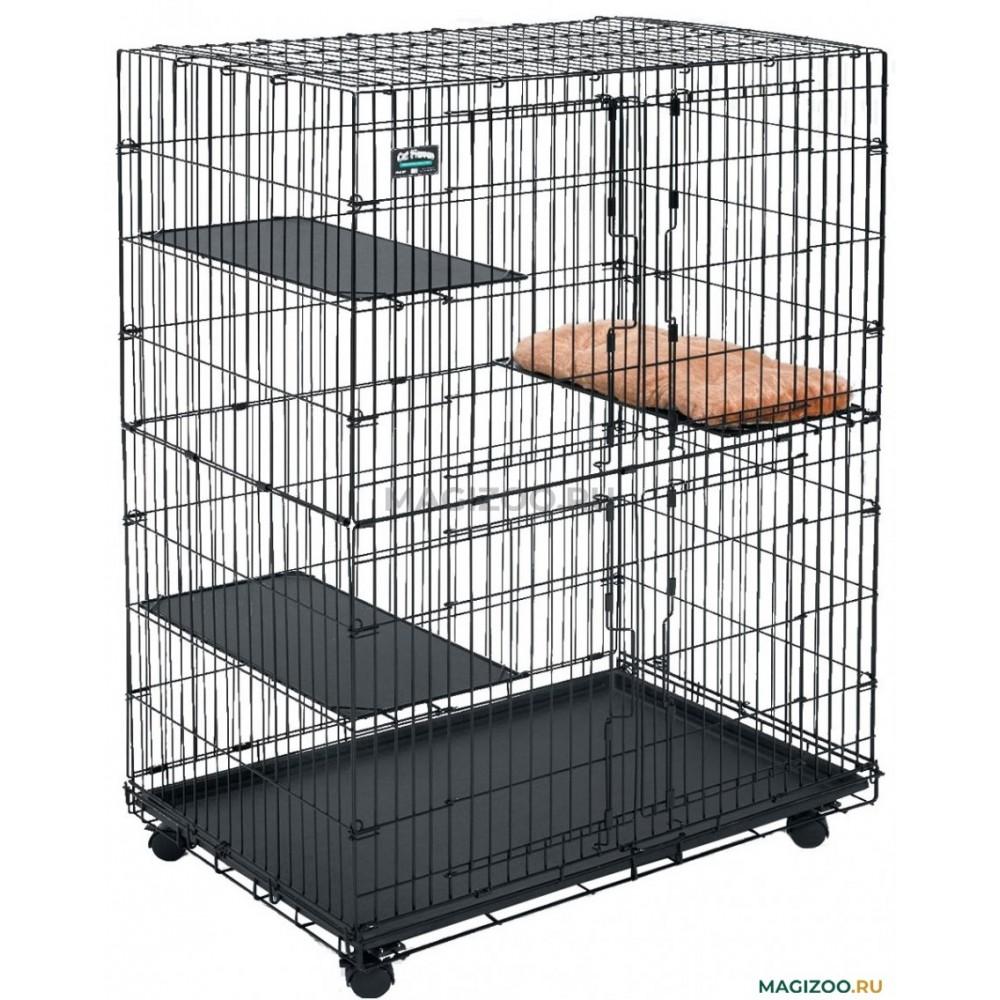 Cat Playpens - Клетка для кошек черная