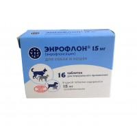 Энрофлон 15 мг коробка 16 таб