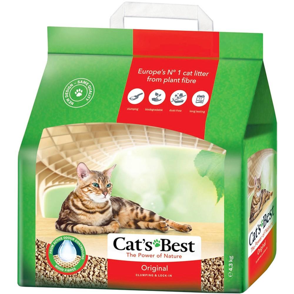 Cat's Best Original Кэтс Бэст наполнитель для кошек древесный комкующийся