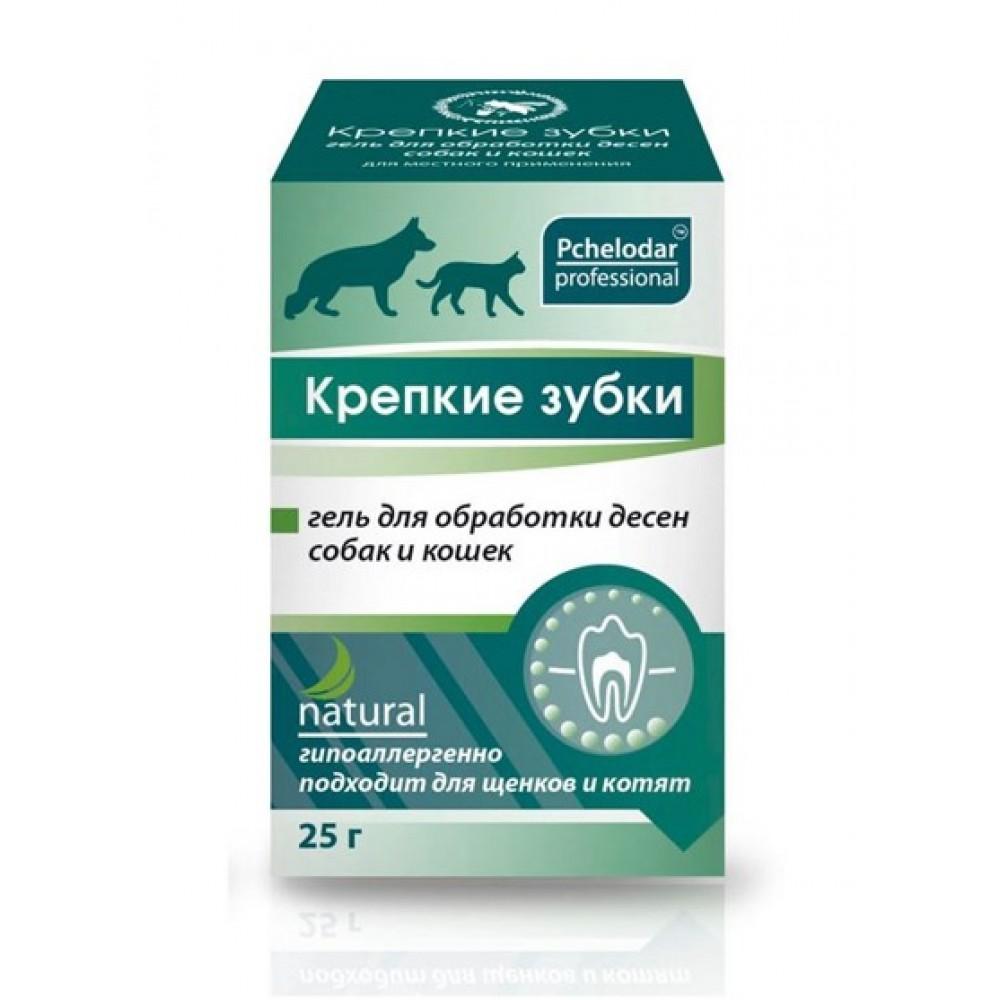 Агробиопром Крепкие зубки гель для обработки десен собак и кошек (Пчелодар), банка 25 мл.