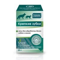 Крепкие зубки гель для обработки десен собак и кошек (Пчелодар), банка 25 мл.