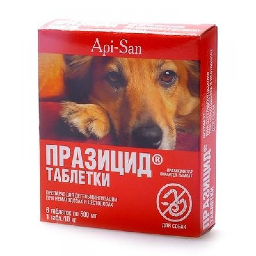 Apicenna Празицид для собак, 6 табл.