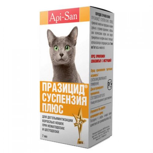 Празицид плюс сладкая суспензия кошек, фл. 7 мл
