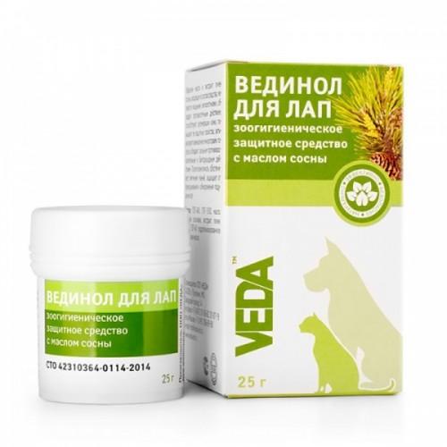 ВЕДИНОЛ ДЛЯ ЛАП - Зоогигиеническое защитное средство с маслом сосны