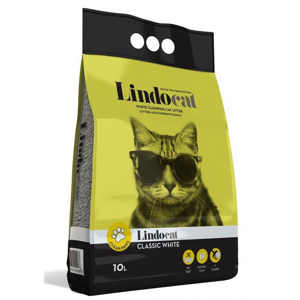 """Lindo Cat  Наполнитель комкующийся без запаха """"Classic White"""", 10 л"""
