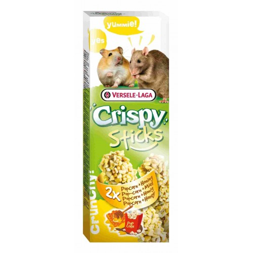 Корм для хомяков и зерноядных Сrispy + палочка в подарок