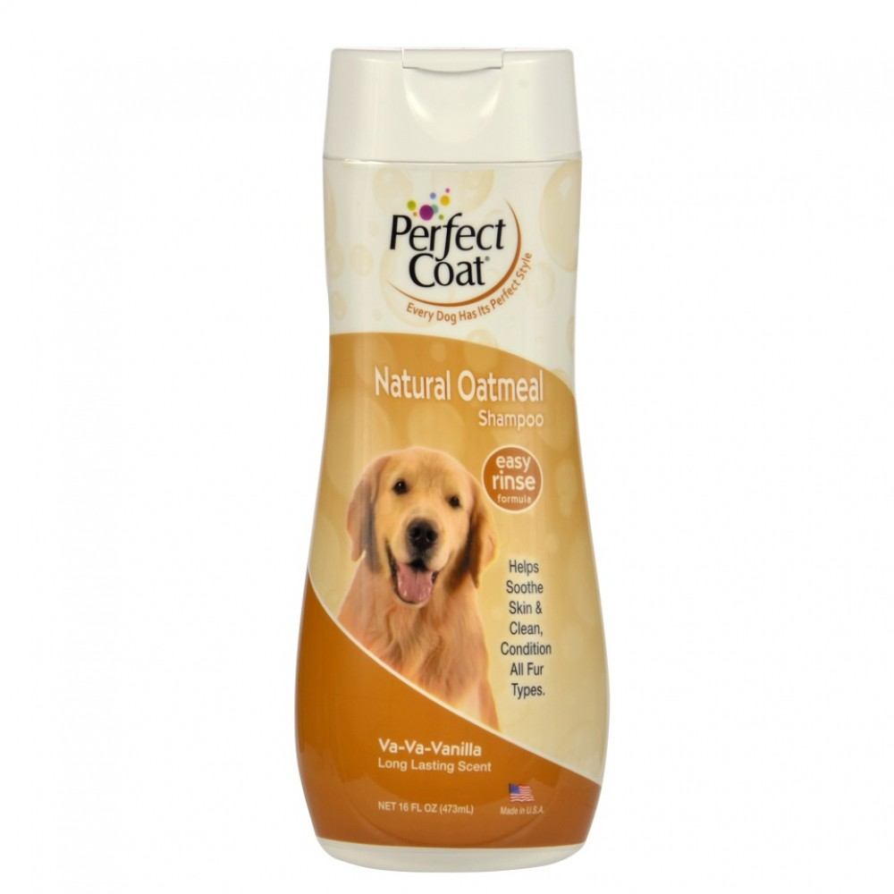 8 in 1 PC Natural Oatmeal - Шампунь для собак овсяный успокаивающий для кожи с ароматом ванили