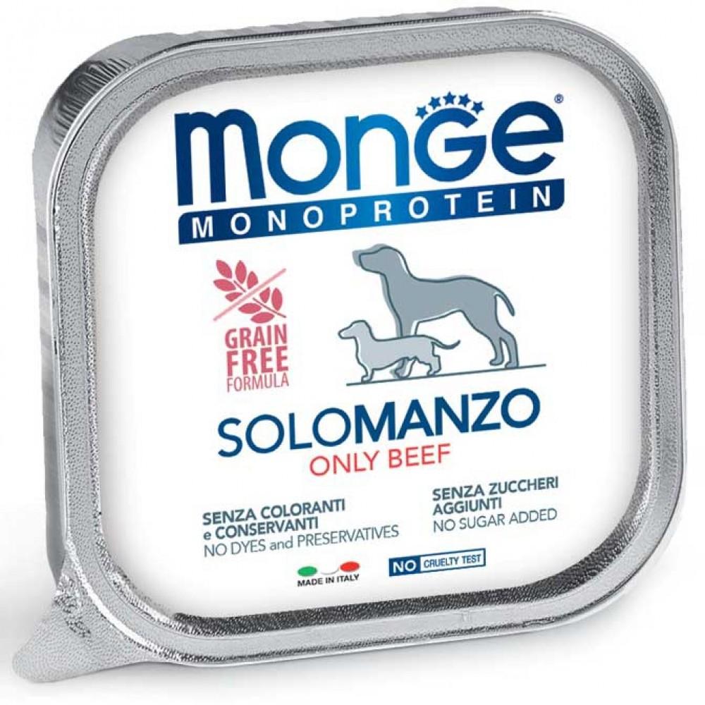 Monge Dog Monoprotein Solo B&S - Консервы для собак паштет из говядины
