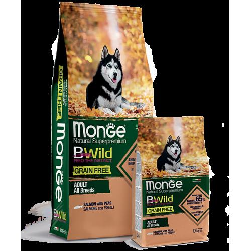 Dog BWild GRAIN FREE - Беззерновой корм из лосося и гороха для взрослых собак всех пород