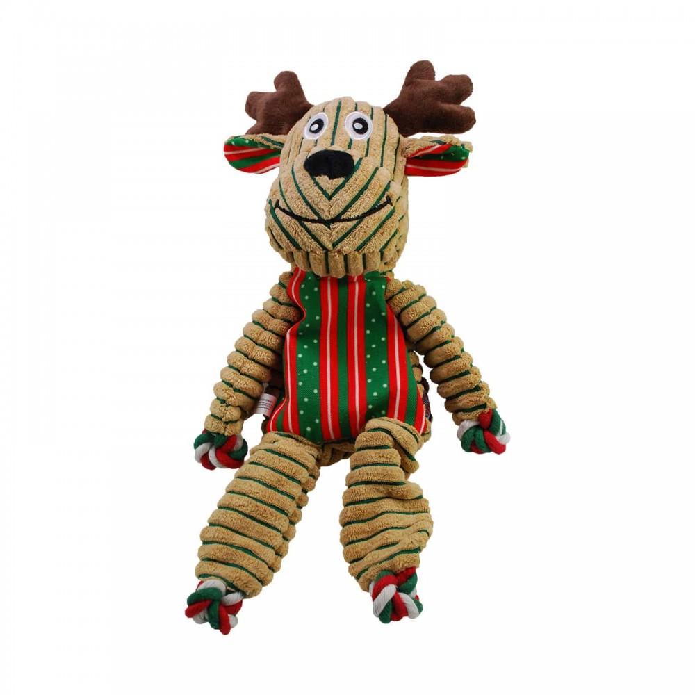KONG Holiday Floppy Knots - Игрушка для собак Олень