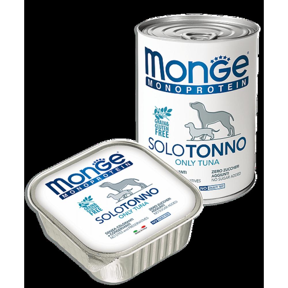 Monge Dog Monoprotein Solo B&S - Консервы для собак паштет из тунца