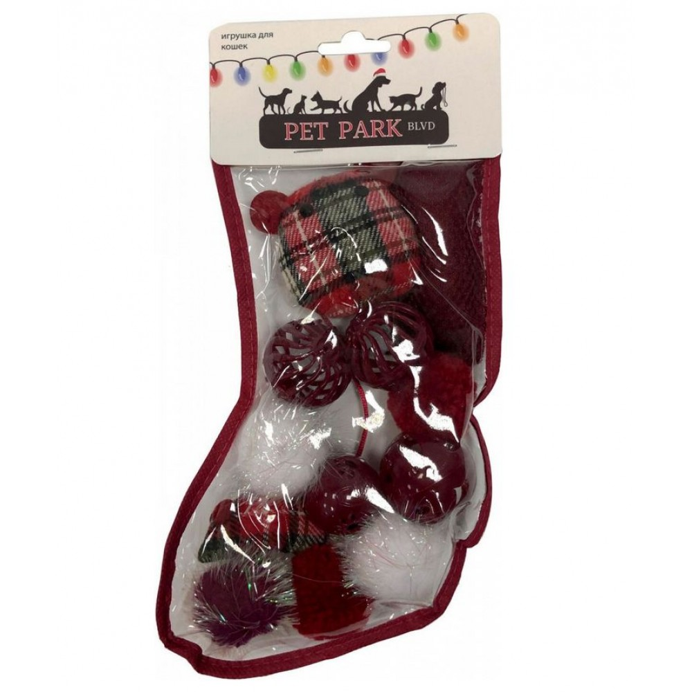 Aromadog Petpark Christmas - Игрушка для кошек Подарочный чулок (12шт. внутри)