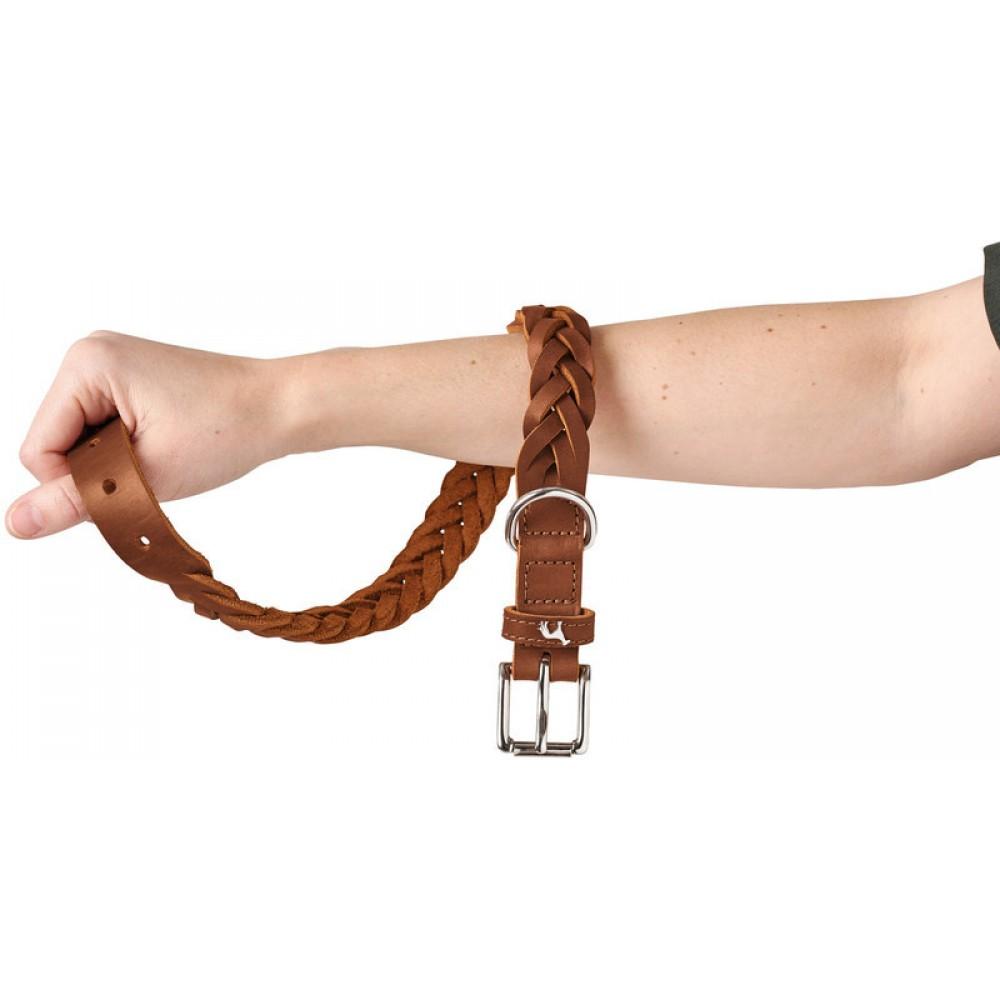 Hunter Solid Education Special - Ошейник для собак, натуральная кожа, коньяк
