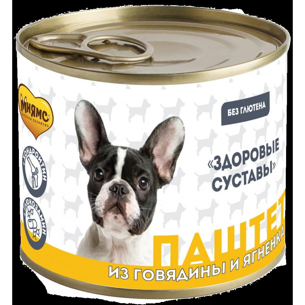 Мнямс Консервы для собак - Паштет из говядины и ягненка «ЗДОРОВЫЕ СУСТАВЫ»