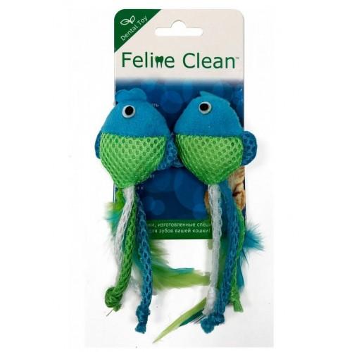 Feline Clean Dental - Игрушка для кошек Рыбки, ленты и перья