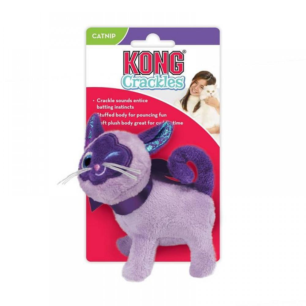 KONG Crackles - Игрушка для кошек Кошка, хрустит, с кощачьей мятой