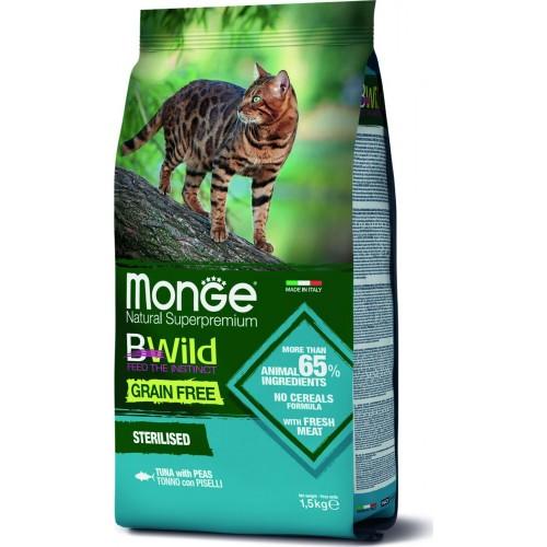 Cat BWild GRAIN FREE - Беззерновой корм из тунца и гороха для стерилизованных кошек