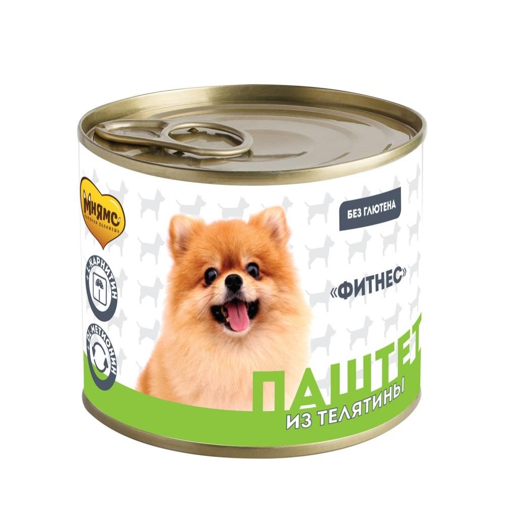 Мнямс Консервы для собак - Паштет из телятины «ФИТНЕС»