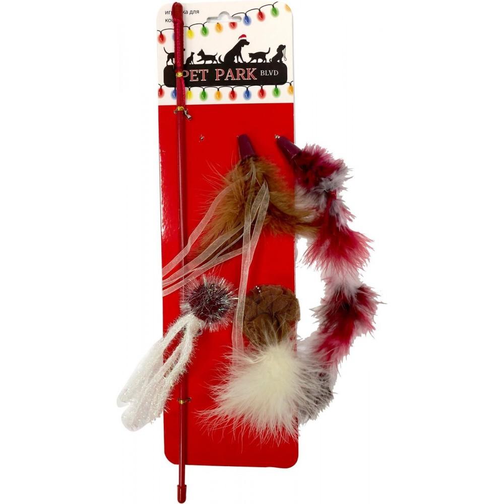 Aromadog Petpark Christmas - Игрушка для кошек дразнилка, 5 сменных наконечников