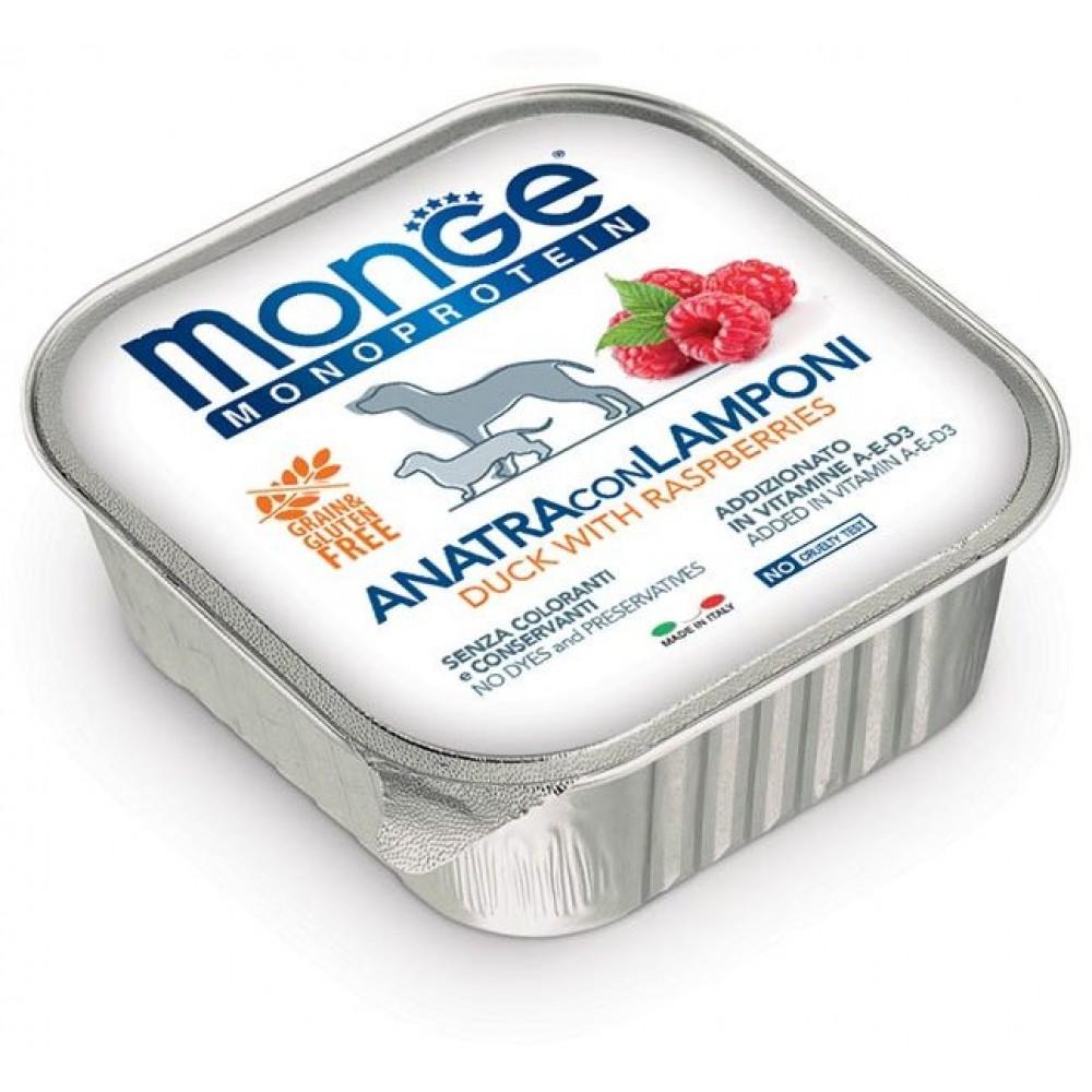 Monge Dog Monoprotein Fruits - Консервы для собак паштет из утки с малиной