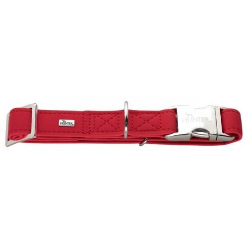 Hunter ошейник для собак Softie Alu-Strong M (40-55 см) нубук красный