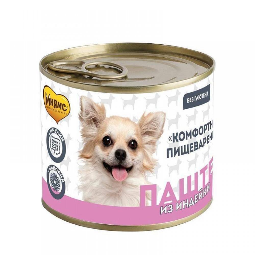 Мнямс Консервы для собак - Паштет из индейки «КОМФОРТНОЕ ПИЩЕВАРЕНИЕ»