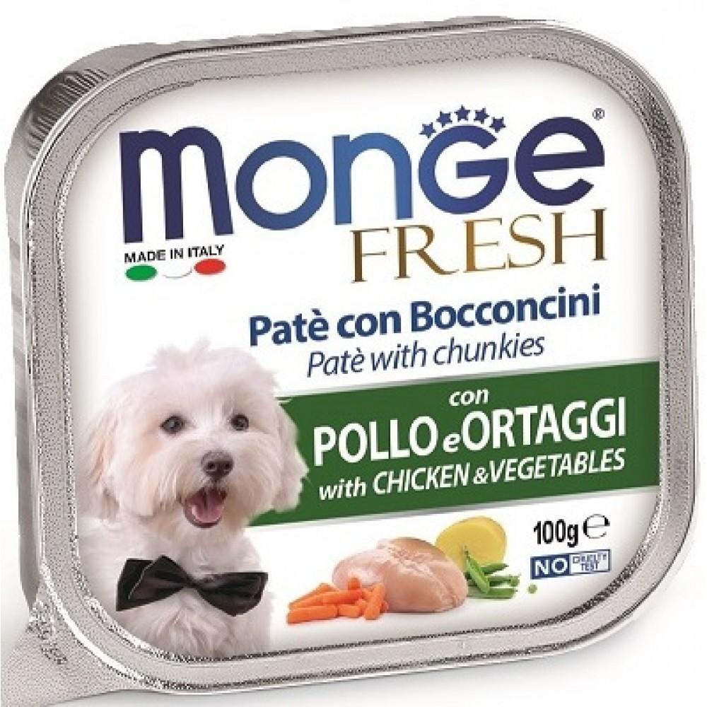 Monge Dog Fresh - Консервы для собак курица с овощами