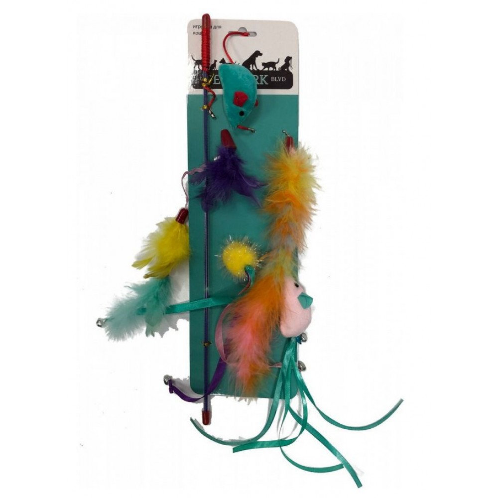 Aromadog Petpark - Дразнилка для кошек Мышки (сменные наконечники)
