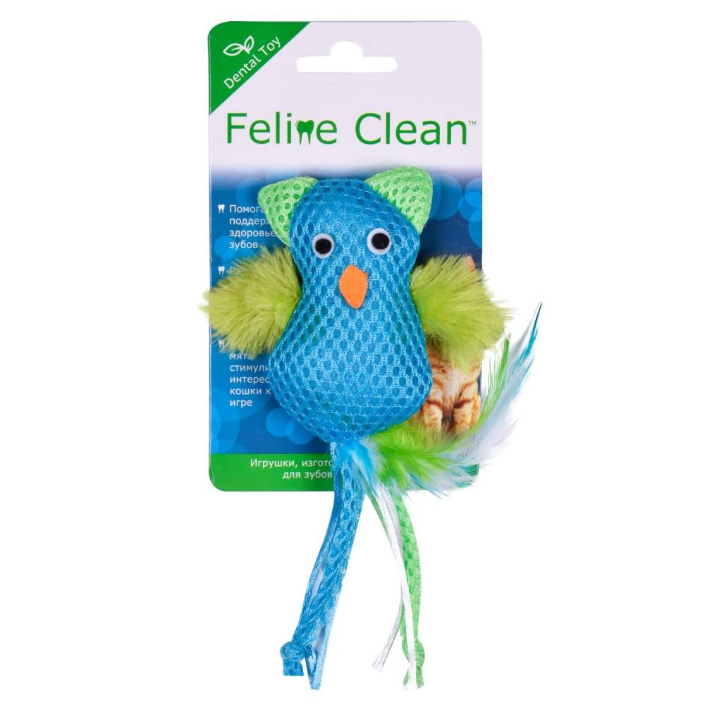 Aromadog Feline Clean Dental - Игрушка для кошек Сова, хвост с перьями
