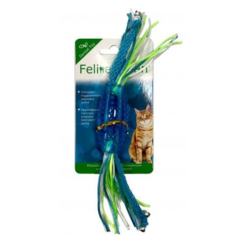 Feline Clean Dental - Игрушка для кошек Конфетка прорезыватель с лентами, резина