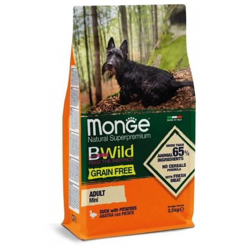 Dog BWild GRAIN FREE Mini - Беззерновой корм из мяса утки с картофелем для взрослых собак мелких пород