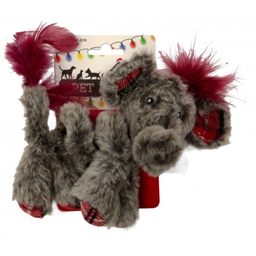 Petpark Christmas - Игрушка для кошек Кудрявый слон