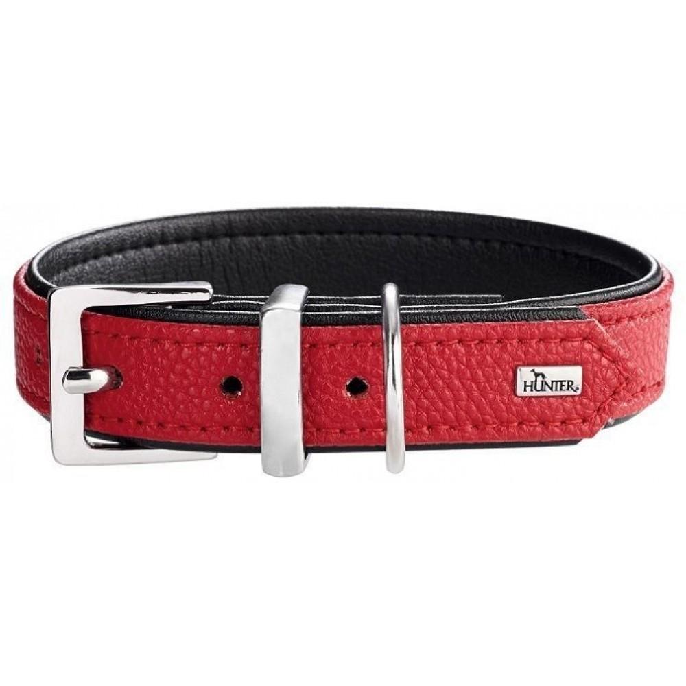 Hunter VEGA - Ошейник для собак из заменителя кожи, красный