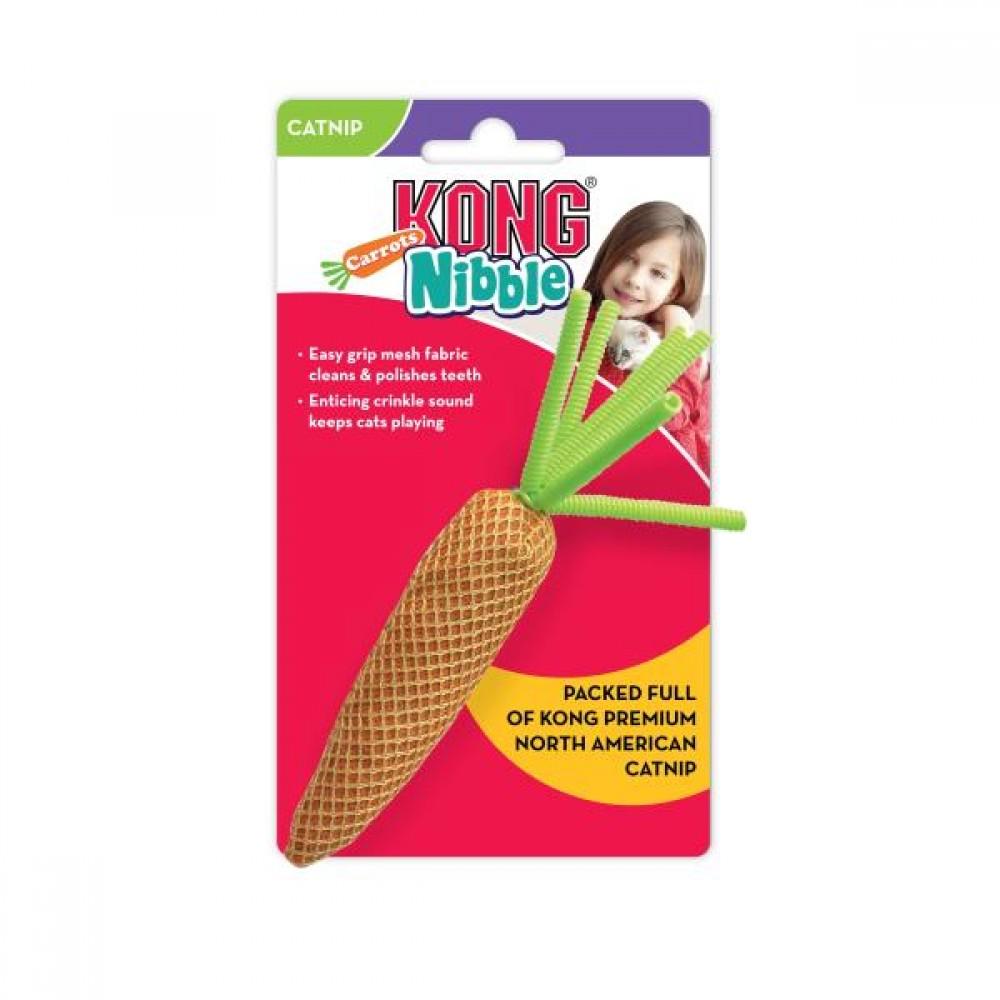 KONG Nibble - Игрушка для кошек Морковь, цвета в ассортименте