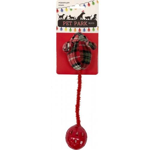 Petpark Christmas - Игрушка для кошек Мышка, Длинный хвост
