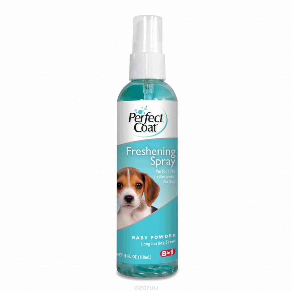 8 in 1 Дезодорирующее средство для шерсти собак с ароматом детской присыпки (спрей)