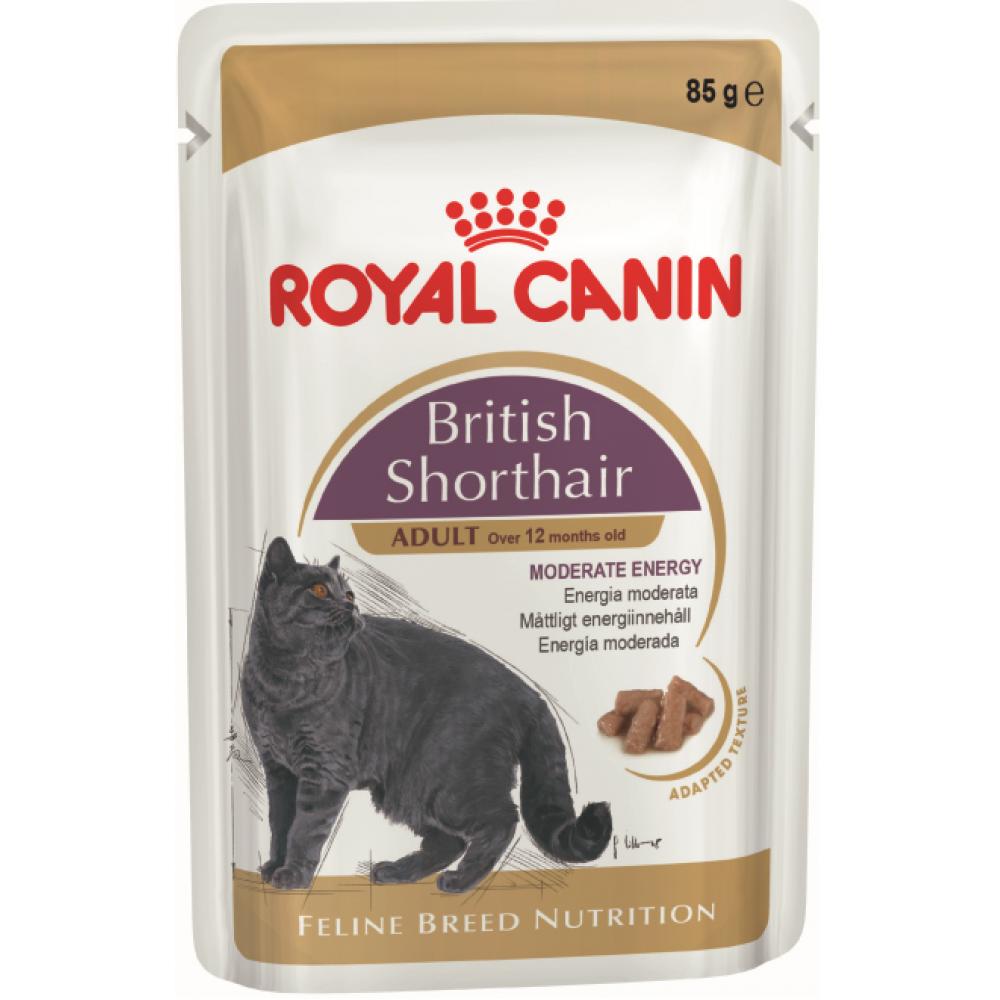 """Royal Canin British Shorthair Adult - Паучи в соусе для взрослых британских короткошерстных кошек """"Роял Канин Бритиш Шортхэйр Эдалт"""""""