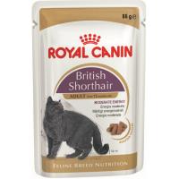 """British Shorthair Adult - Паучи в соусе для взрослых британских короткошерстных кошек """"Роял Канин Бритиш Шортхэйр Эдалт"""""""