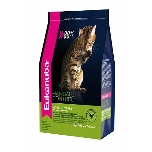 Cat HAIRBALL - Корм для вывода шерсти из желудка с домашней птицей для кошек