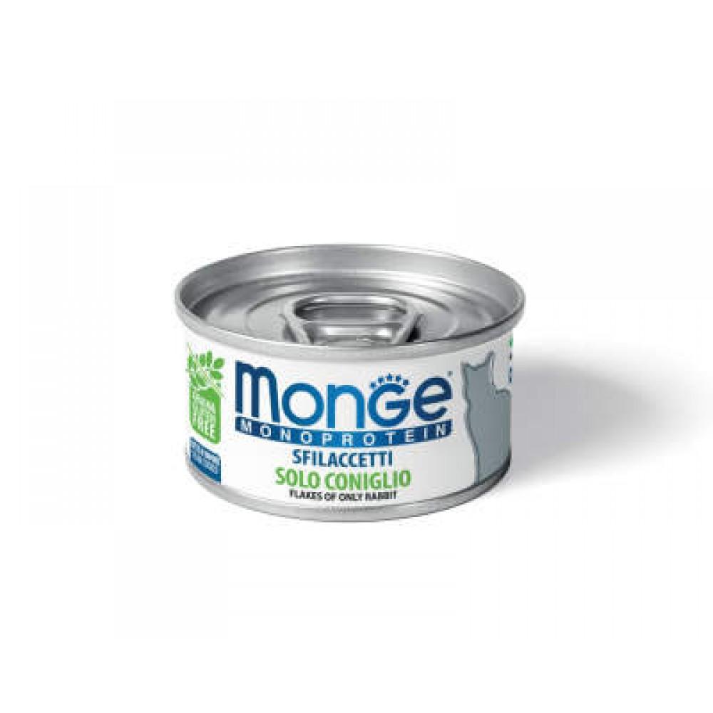 Monge Cat Monoprotein - Мясные хлопья для кошек из кролика
