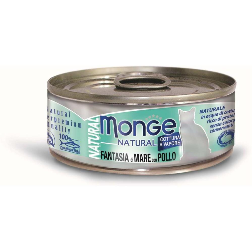 Monge Cat Natural - Консервы для кошек с морепродуктами и курицей