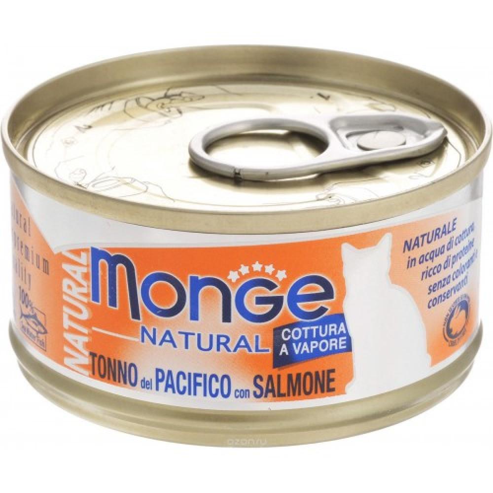 Monge Cat Natural - Консервы для кошек с тихоокеанским тунцом и лососем