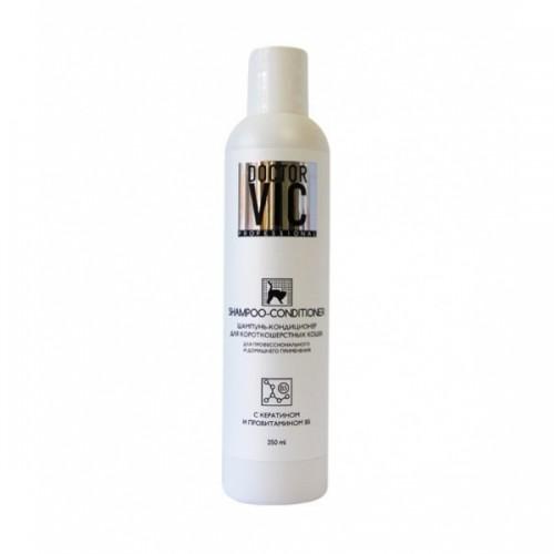 Doctor VIC, Доктор ВИК. Шампунь- кондиционер для короткошерстных кошек с кератином и провитамином В5, 250 мл.