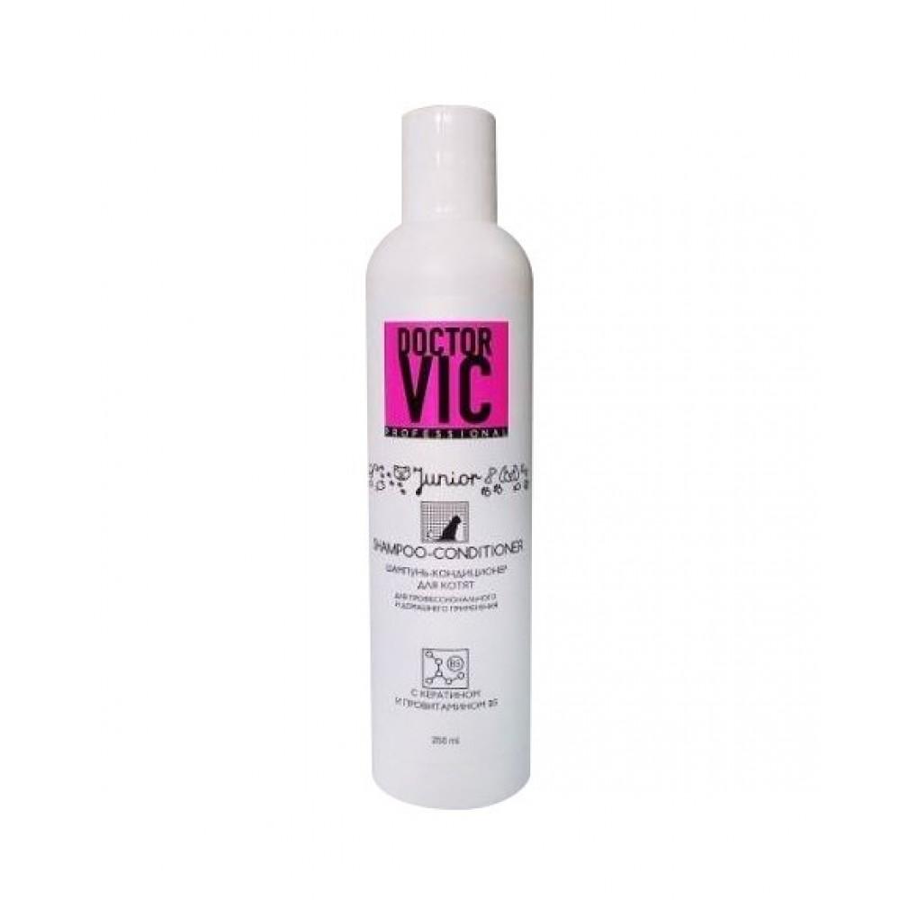ВИК Doctor VIC ,Доктор Вик. Шампунь-кондиционер для котят с кератином и провитамином В5, 250 мл.