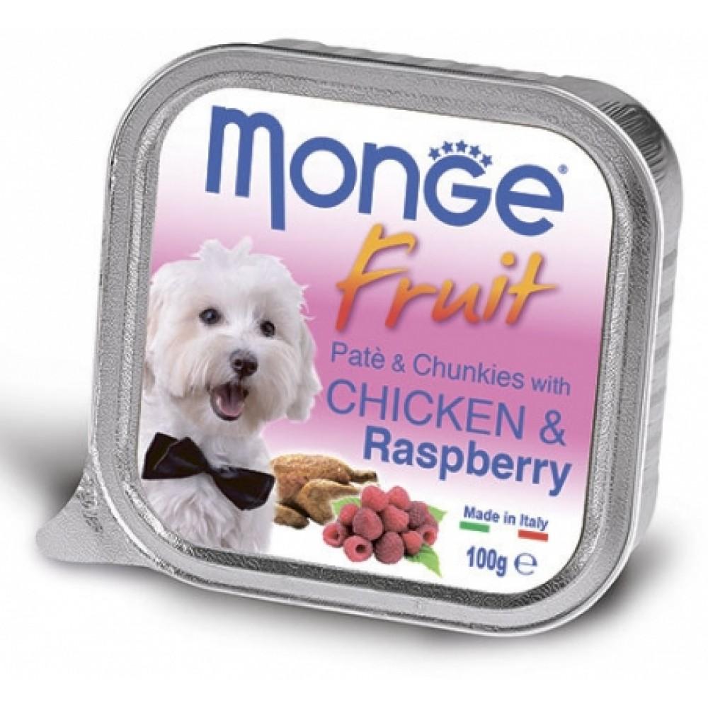 Monge Dog Fruit - Консервы для собак из курицы с малиной