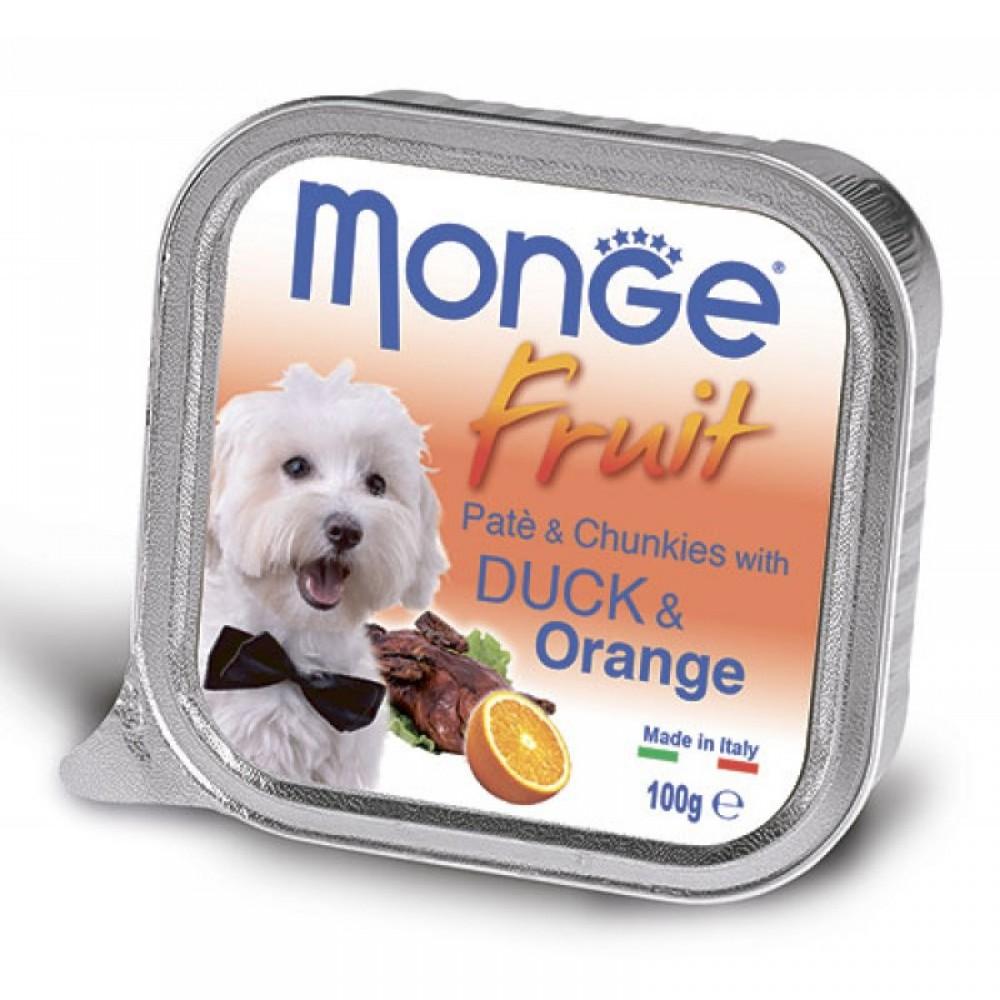 Monge Dog Fruit - Консервы для собак из утки с апельсином