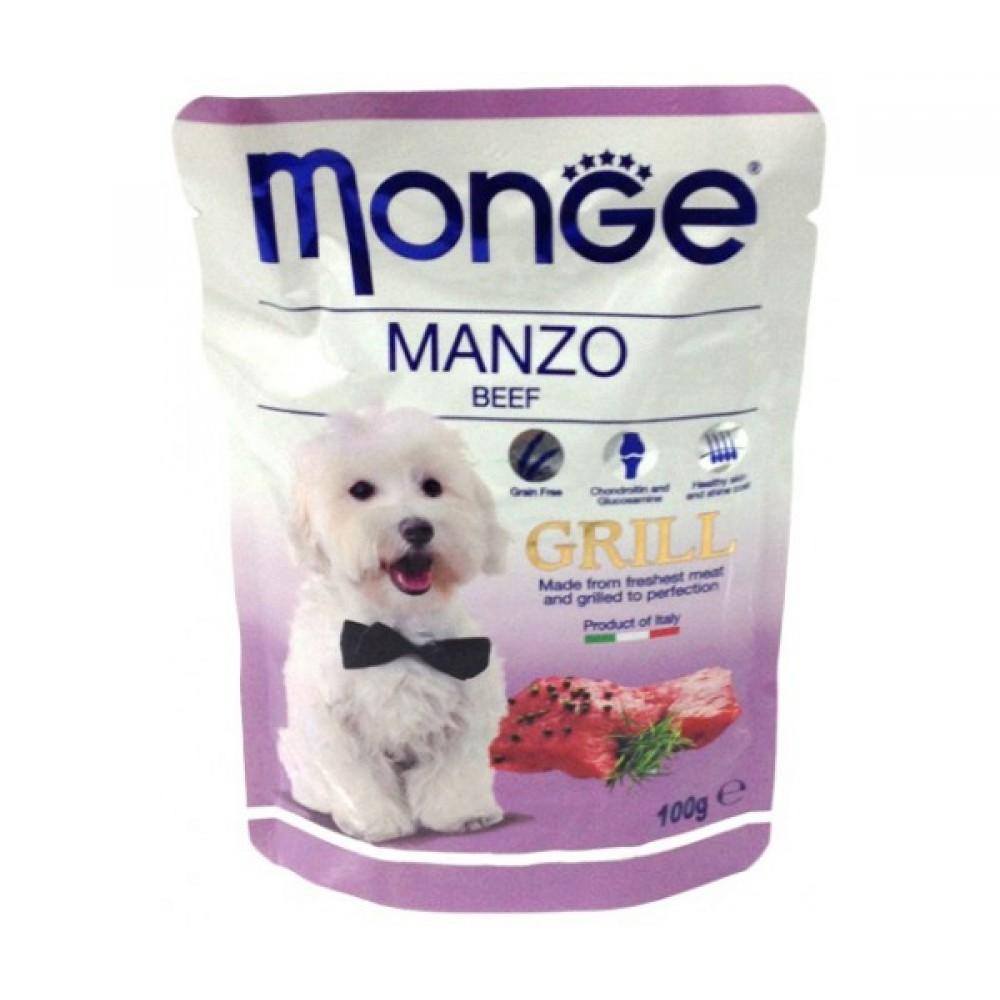 Monge Dog Grill Pouch - Паучи для собак с говядиной