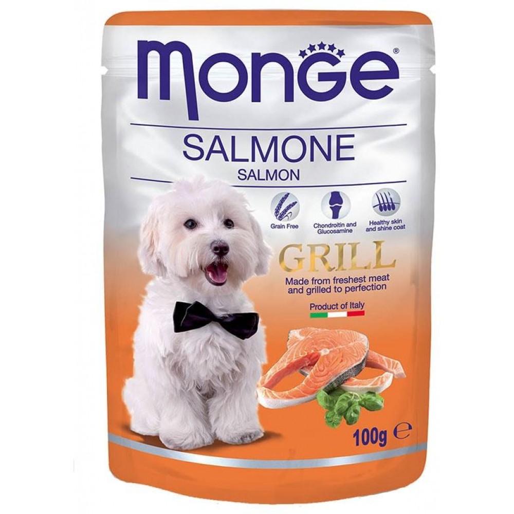 Monge Dog Grill Pouch - Паучи для собак с лососем